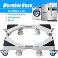 Напольная подставка для стиральной машины  регулируемая передвижная тележка для холодильника  универсальная машина