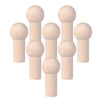 Yardwe-clavijas de madera sin terminar, accesorios de tuerca de gancho de tornillo, ganchos de pared de tela de madera para bolsas de ropa, 8 Uds.