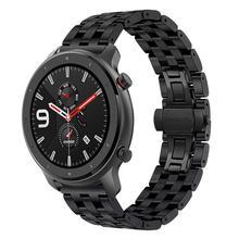 Pulsera de 20 mm / 22 mmpara reloj inteligente AMAZFIT GTR 42 / 47MM Amazfit GTSCorrea de reloj de repuestoLiberación rápidaCorrea de acero inoxidablepara accesorios de reloj Amazfit 2 / 2S / 3