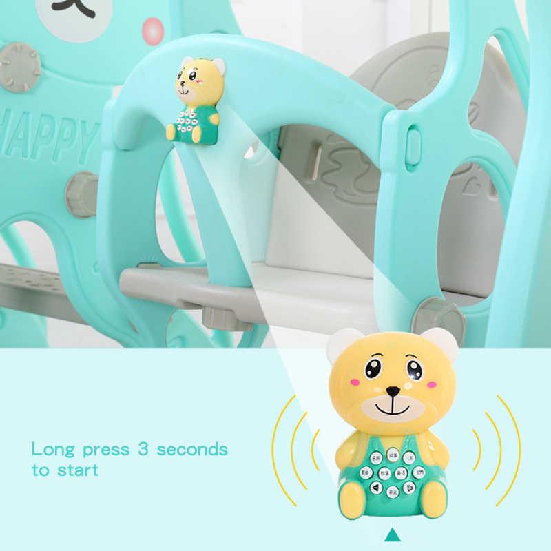 Детское кресло-качалка, музыкальная горка, комбинация, стрельба, баскетбольная история, музыкальная обучающая машина, мультяшный набор с водяным потоком