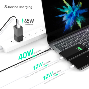 Image 2 - BaySerry 65 واط غان USB C تهمة سريعة 4.0 3.0 الاتحاد الأوروبي التوصيل نوع C PD شاحن نوع C آيفون 12 برو ماكس سامسونج محمول شحن سريع