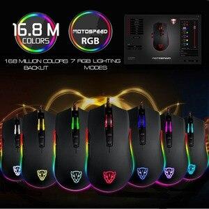 Image 4 - Motospeed V70 przewodowa mysz dla graczy z USB PMW3325 5000DPI PMW3360 12000 DPI komputer RGB LED wielokolorowe podświetlenie wyślij z pudełkiem