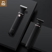 SOOCAS maquinilla de afeitar eléctrica con cuchilla pequeña en T, cuchilla de tres vías negra para afeitado rápido, afeitado en seco y húmedo, doble carga