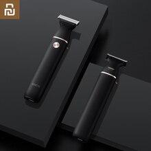 Soocas lâmina de barbear elétrica pequena t lâmina preta de três vias para barbear rápido seco e molhado dupla carga rápida