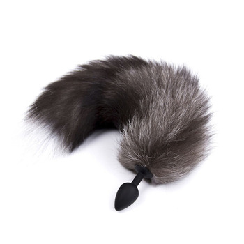 Fox Tail Anal Plug In Adult Games Stainless steel Anal Pleasure Bead Butt Plug Stimulator Sex Products Flirt Toys For Women rabbit tail anal plug tail butt plug sexy feather toys for women adult sex small products