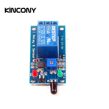 Kincony 1 Channel DC12V Flame Sensor Module Fire Detection Alarm Relay for Smart Home Automation Controller