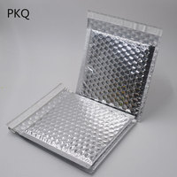 1000pcs Silver Foil Bubble Envelopes Bags CD/DVD Mailers Padded Shipping Envelope Mailing Bag Business Office Supplies Wholesale