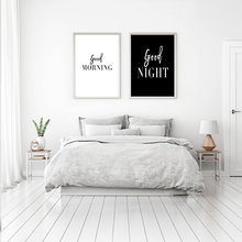 Wall Art Canvas Paintings Good Morning Good Night Bedroom Prints Black White Pictures Poster Gift Kids Room Decorative wall art canvas paintings good morning good night bedroom prints black white pictures poster gift kids room decorative