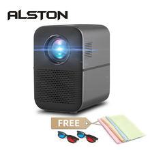 Alston m6 completo hd 1080p led projetor 4000 lumens bluetooth alto-falante de cinema em casa hdmi-compatível usb proyector beamer