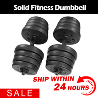 30kg Weight Dumbbell Set PE Fitness Dumbbells Detachable Dumbbell Arm Muscle Trainer Household Exercise For Body Workout Outdoor