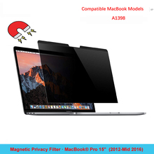 Magnetic Privacy Filter Anti-Glare Screen Protector for MacBook Pro 15