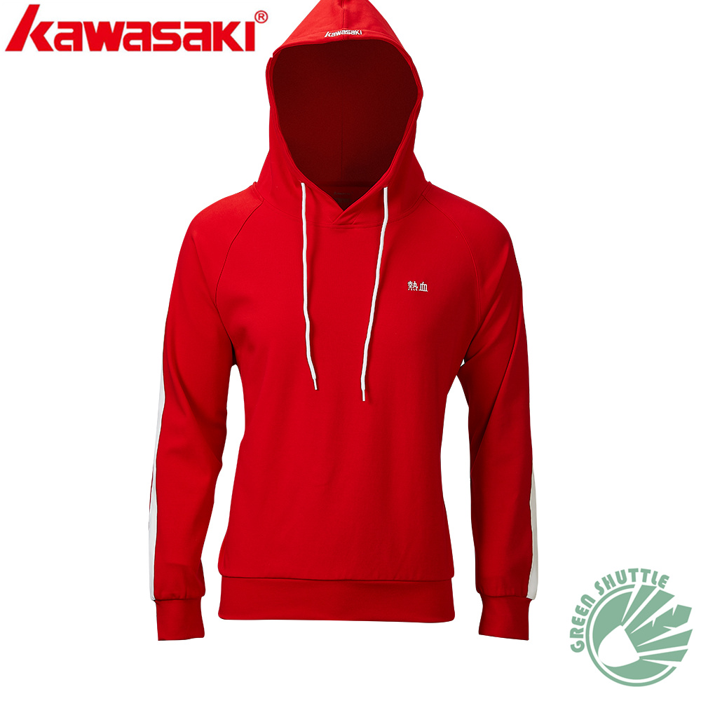 2020 New Genuine Kawasaki Badminton Shirt For Couples Dress Breathable Hooded Fleece  T-Shirt LT-R1412 R2412