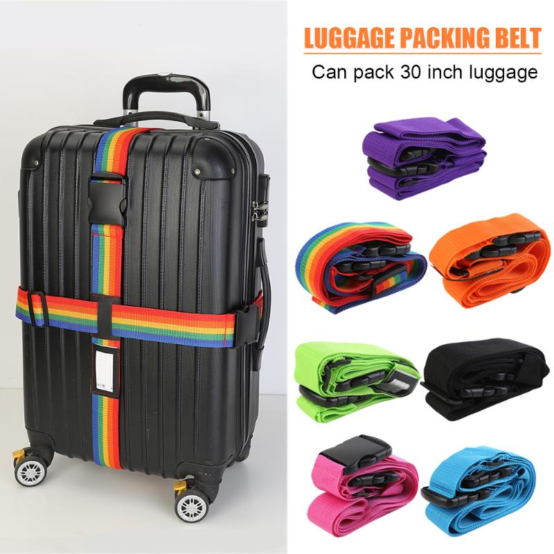 Luggage Strap Cross Belt Heavy Duty Adjustable Suitcase Packing Baggage Buckle Belt for Outdoor Travel Supplies