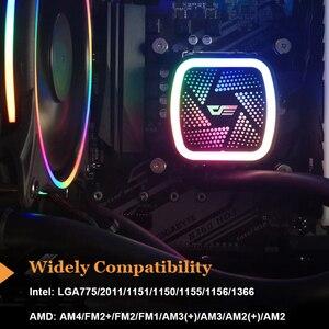Image 3 - Aigo PC Ốp Lưng Nước Làm Mát Máy Tính CPU RGB Nước Mát Tản Nhiệt Tích Hợp Làm Mát CPU Tản Nhiệt LGA 1151/2011/AM3 +/AM4