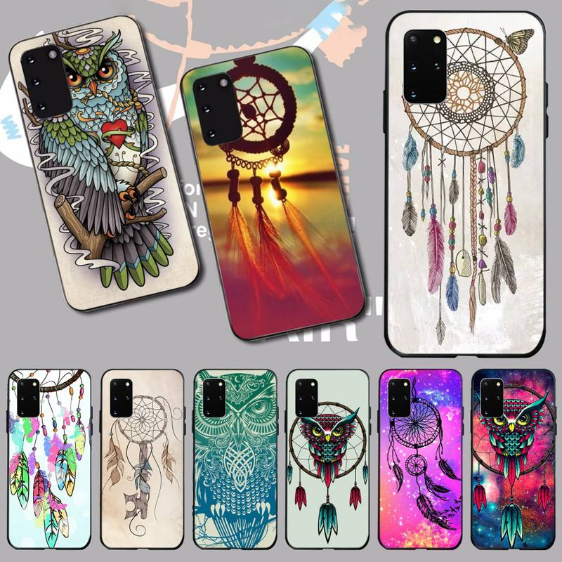 PENGHUWAN Dream Catcher Owls Pattern Custom Photo Soft <font><b>Phone</b></font> <font><b>Case</b></font> for <font><b>Samsung</b></font> S20 plus Ultra S6 <font><b>S7</b></font> edge S8 S9 plus S10 5G image