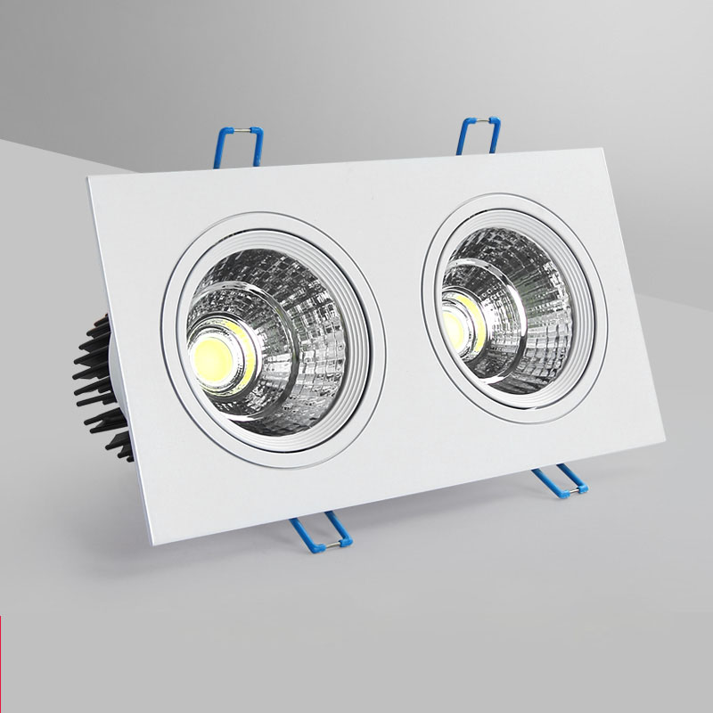 1pcs Square Dimmable Led Downlight Light Cob Ceiling Spot Light 5w 7w 10w  Ac85-265V Ceiling Recessed Lights Indoor Lighting