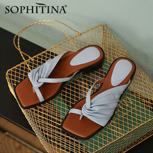 Slide Sandals SOPHITINA Dress-Shoes Flip-Flop Low-Heel Open-Toe Flat Casual Summer Fashion