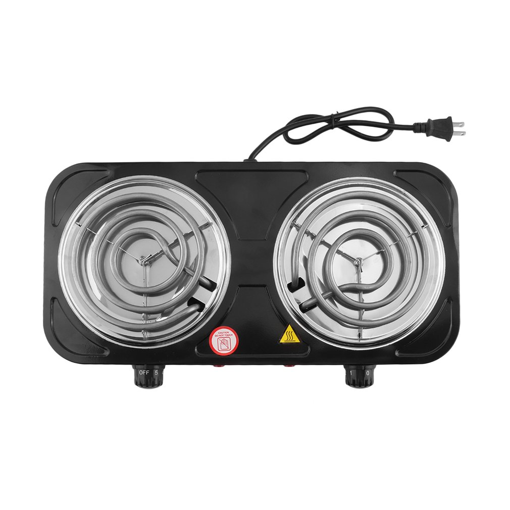 Portable 2000w Electric Double Burner Hot Plate Heating Cooking Stove Kitchen Cooker For Home Dorm Camping US Plug|Personal Care Appliance Accessories| |  - title=