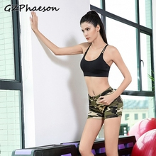 New Camouflage Sexy Short Fitness Leggings Women Plus Size Workout Sports Wear For Slim Running