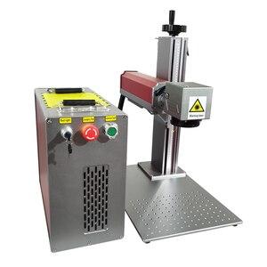 Image 4 - 30 ワット分割繊維レーザーマーキング機レーザー彫刻機銘板レーザーマッハステンレス鋼マーキング