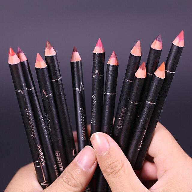 1 Colors/Set Sexy Matte Lip Stick Lipliner Lip Liner Pencil Matt Nude Lipsliner Pen Set Beauty Makeup Tool Cosmetic For Lips 2