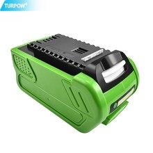 Turpow 40v 6000mah bateria de substituição recarregável para creabest 40v 200w greenworks 29462 29472 22272g-max gmax bateria