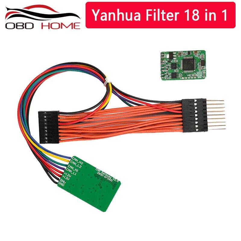 Original yanhua mb pode filtrar 18 em 1 ajuste do odômetro pode filtrar para w222/w166 universal pode filtrar para benz para bmw Programadores de chave de carro    -