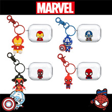 Earphone Case For Airpods Pro Case Marvel Iron Man Spider Man Anime Soft Headphone Case for Apple Air Pods 1/2 Protective Cover(China)