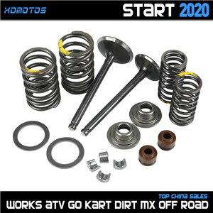 Впускной Выпускной клапан мотоцикла comp пружины Cotter уплотнение в сборе для Lifan 125 140 150cc горизонтальные двигатели Dirt Pit Bike ATV Quad