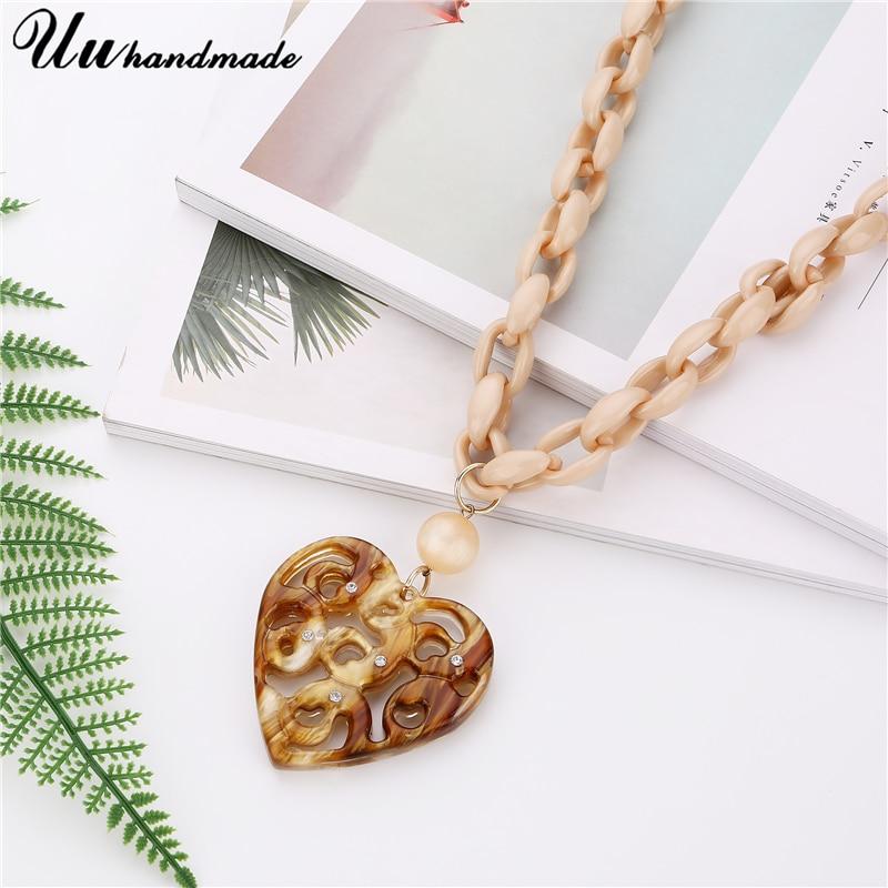 Купить винтажные длинная звеньевая цепь ожерелье lover сердце кулон