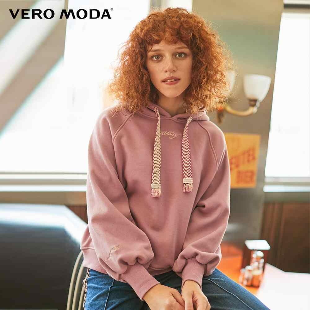 Vero Moda Mới Nữ Thêu Chữ In Chải Áo Hoodie   319433502