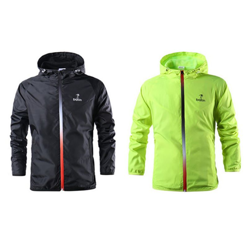 High Quality Windproof Water Resistant Teenager Boys Hooded Zipper Sports Jacket Running Training Riding Outwear Sporting Coat