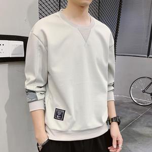 Spring Joker Men Garment-Of-Man Render Round-Collar Fleece Loose The Upper Unlined New