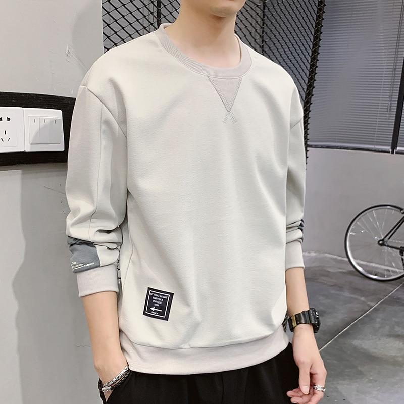 The New 2020 Spring Men Loose Round Collar Fleece Joker Render Unlined Upper Garment Of Man