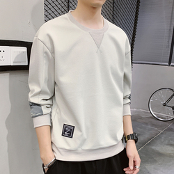 The new 2020 spring men loose round collar fleece joker render unlined upper garment of man