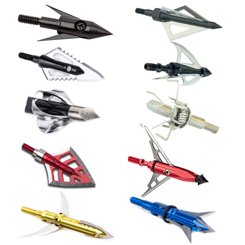 1pcs 100-125 Grain Archery Broadheads Hunting Arrow Heads Tips for Compound <font><b>Crossbows</b></font> Recurve Bow Shooting Practice image