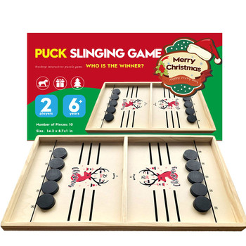 Table Hockey Game Family Table Board Games Catapult Chess Christmas Parent-child Interactive Toy Fast Sling Puck Ice Hockey image