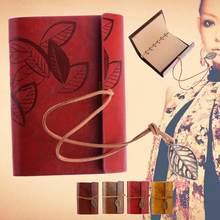 Ретро Кожаный винтажный струнный лист пустой Дневник Блокнот Журнал Sketchbook