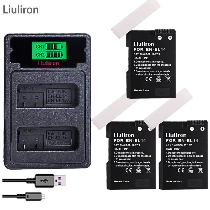 batterie EN-EL14 EN-EL14a ENEL14 EN EL14 EL14A ENEL14a Battery for Nikon D3100 D3200 D3300 D5100 D5200 D5300 P7000 camera