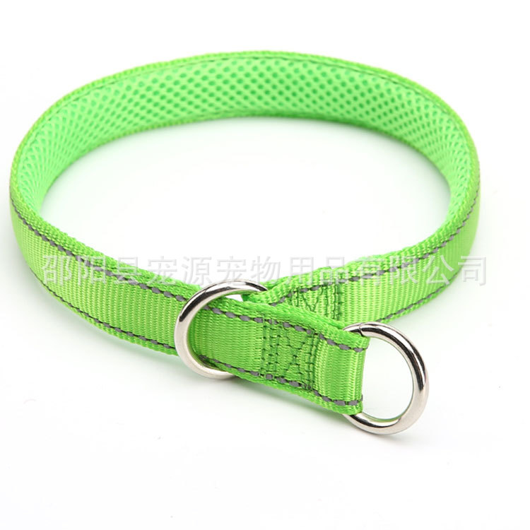 Pet Source Pet Supplies Factory Medium Large Dog Training Neck Ring P Pendant Snake Chain With Reflective Strips Game P Neck Rin