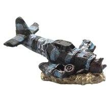 Cave-Decoration-Accessories Aquariums Fish-Tank Aircraft-Ornaments Resin Reptile-Hideout