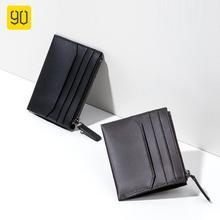 90FUN Vintage Leather Short Wallet Coin Pocket Purse Card Holder Portable Travel for Women Men