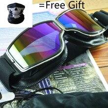 Motorcycle Glasses Vintage Motocross Classic Goggles Steampunk Retro Aviator Pilot Scooter Helmet Eyewear