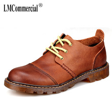 mens leather shoes trade bottom retro hand Mens new autumn winter British cowhide breathable Business Men Shoes