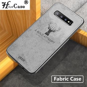 Funda HereCase para Samsung Galaxy S10 Plus S10e, funda trasera suave con textura de tela para Samsung Note 9 8 S8 S9 Plus S7 Edge, funda para teléfono