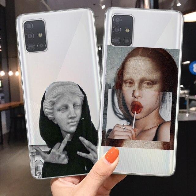 Étuis transparents pour téléphone Samsung Galaxy S20 Ultra Plus A51 A71 A10 A20 A30 A40 A50 A70 David