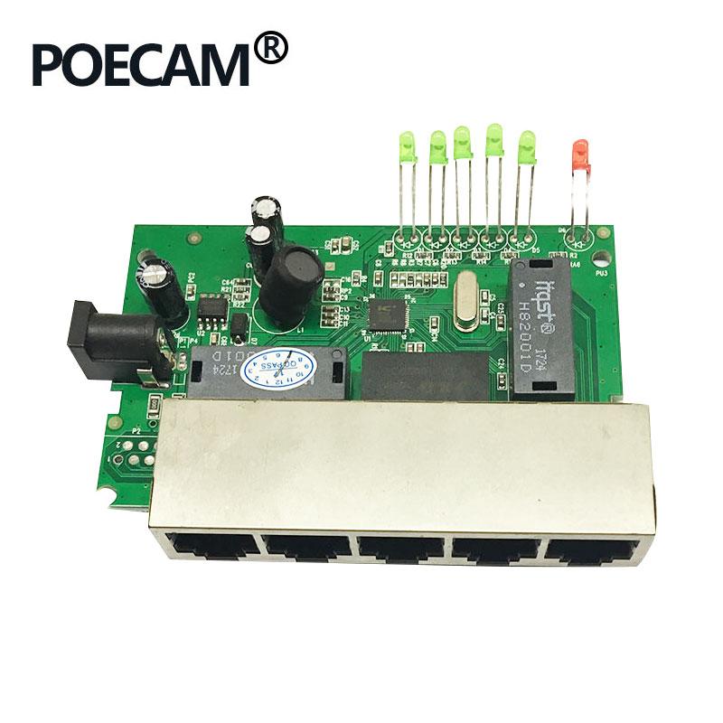 5Port Passive POE Switch 12V 15V 18V 24V IP Carema Wireless Phone LED Display LAN Supply Splitter 45/+ 78/-