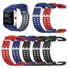 استبدال الرياضة حزام ساعة أنيقة عنصر مريح ل Polar V800 مزدوج اللون سوار ذكي حزام ساعة سيليكون حزام