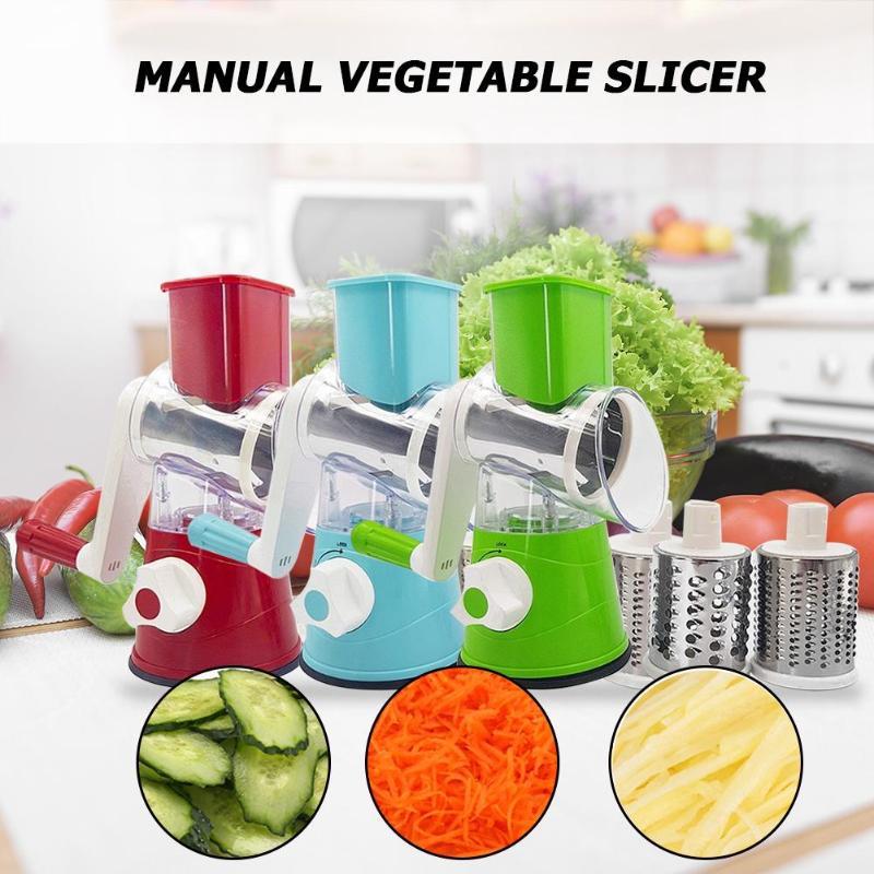 Manual Vegetable Cutter Slicer Kitchen Accessories Multifunctional Round Vegetables Slicer Potato Cheese Grater Kitchen Gadgets