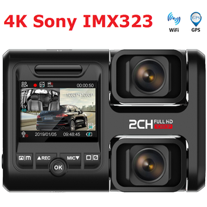 4K 2160P WIFI GPS регистратор двойной объектив Автомобильный видеорегистратор Novatek 96663 чип Sony IMX323 датчик ночного видения двойная камера видеорегис...